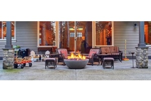 Patio with fire pit and seating