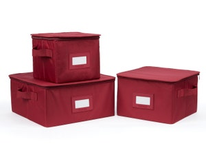 3 Piece Dish Storage Box Set