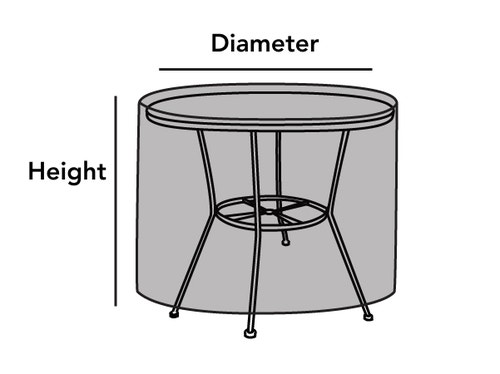 Outdoor Round Accent Table Cover