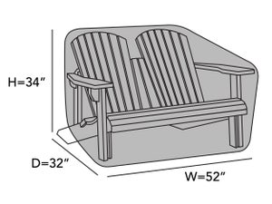 adirondack-bench-cover-k51-line-drawing-k51