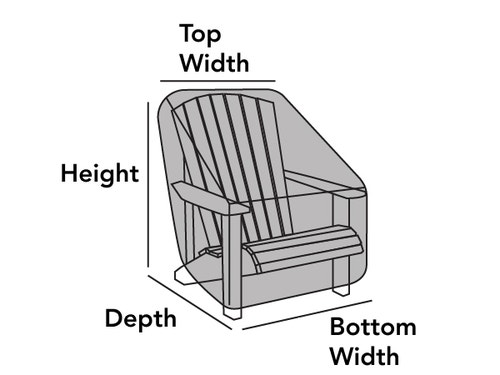 Outdoor Rounded Back Adirondack Chair Cover
