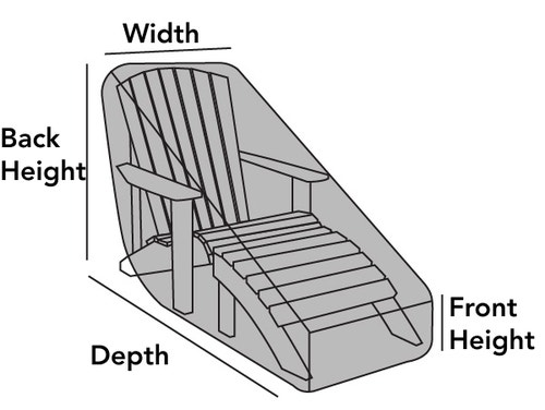 Outdoor Adirondack Chaise Lounge Cover