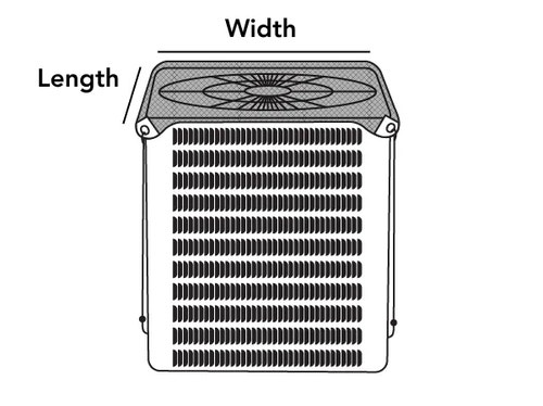 Outdoor Air Conditioner Armor Top Cover