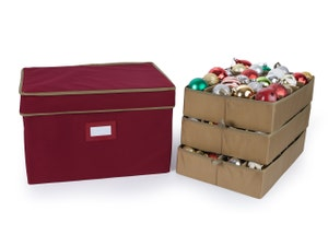 Adjustable Ornament Storage Box - Up To 72 Standard Compartments