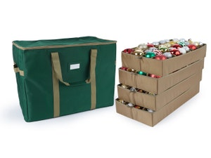 Adjustable Ornament Storage Bag - Up To 128 Standard Compartments