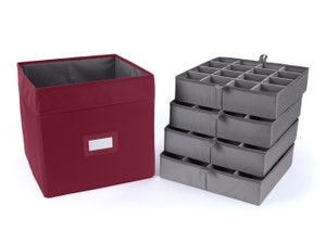 Adjustable Cube Storage Bin - Up To 64 Short Compartments