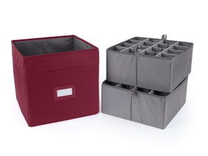 Adjustable Cube Storage Bin - Up To 32 Tall Compartments
