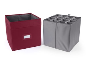 Adjustable Cube Storage Bin - Up To 16 XTall Compartments