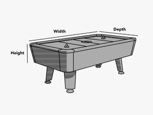 custom-size-air-hockey-table-cover-line-drawing