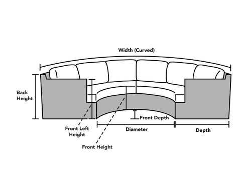 Custom Size Curved Sectional Cover