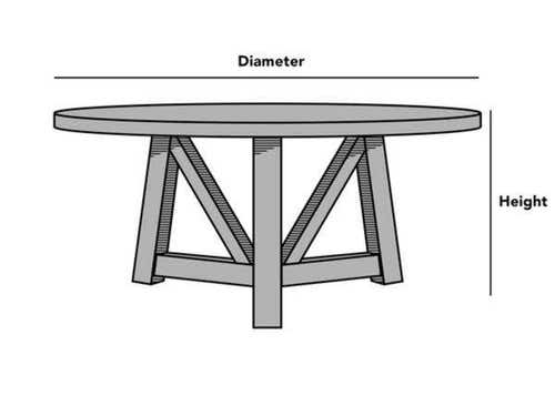 Custom Size Round Dining Table Cover