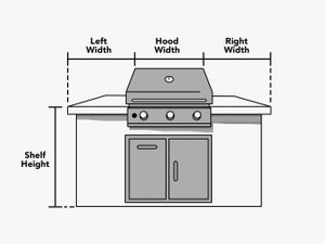 custom-size-island-grill-cover-line-drawing