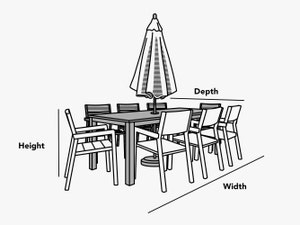 custom-size-rectangular-square-dining-table-set-with-umbrella-hole-cover-line-drawing