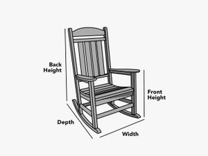 custom-size-rocking-chair-cover-line-drawing