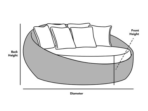 Custom Size Round Day Bed Cover