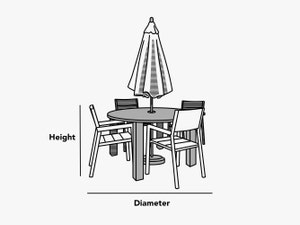 custom-size-round-dining-table-set-with-umbrella-hole-cover-line-drawing