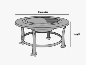 custom-size-round-fire-pit-cover-line-drawing