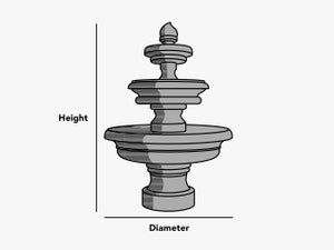 custom-size-round-fountain-cover-line-drawing