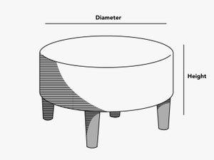 custom-size-round-ottoman-cover-line-drawing