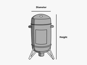 custom-size-round-smoker-cover-line-drawing