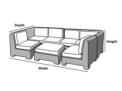 Custom Size Sectional Set Cover