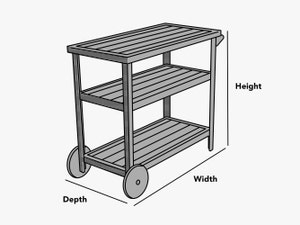 custom-size-serving-cart-cover-line-drawing