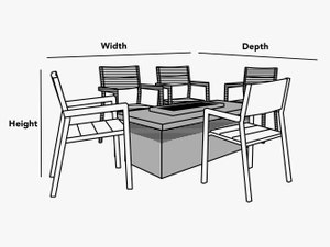custom-size-square-rectangular-fire-pit-chair-set-cover-line-drawing