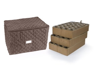 18-72PC Adjustable Dish Storage Bag - Includes (3) 4 Inch Trays