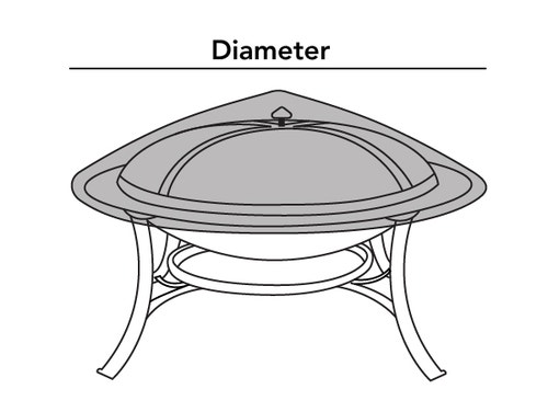 Round Fire Pit Top Cover