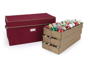 Adjustable Ornament Storage Box - Up To 96 Standard Compartments