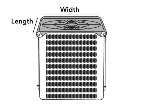 Outdoor Air Conditioner Mesh Top Cover