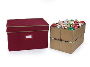 48PC Adjustable Ornament Storage Box - Holds 6 Inch Ornaments