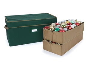 Adjustable Ornament Storage Box - Up To 64 Tall Compartments