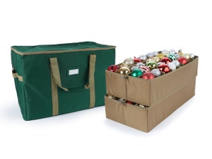 Adjustable Ornament Storage Bag - Up To 64 Tall Compartments