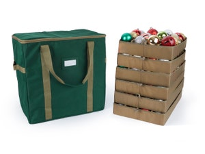 Adjustable Ornament Storage Bag - Up To 144 Short Compartments