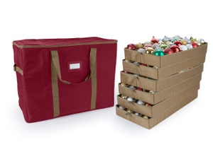 192PC Adjustable Ornament Storage Bag - Holds 3 Inch Ornaments