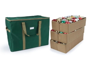 Adjustable Ornament Storage Bag - Up To 96 Tall Compartments
