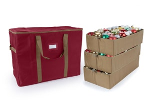 96PC Adjustable Ornament Storage Bag - Holds 6 Inch Ornaments