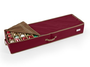 112PC Adjustable Underbed Ornament Storage Bag - Holds 3 Inch Ornaments