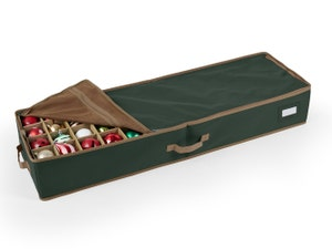 Adjustable Underbed Ornament Storage Bag - Up To 72 Tall Compartments