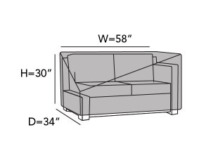 right-arm-sectional-loveseat-cover-line-drawing-802
