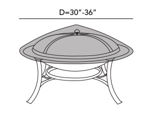 round-firepit-top-cover-line-drawing-f50
