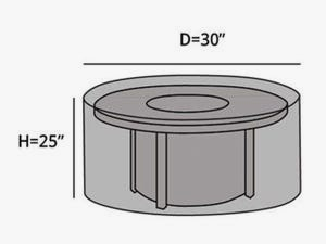 round-outdoor-firepit-cover-line-drawing-f25