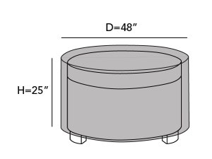 round-outdoor-ottoman-cover-line-drawing-c30