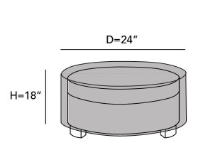 round-outdoor-ottoman-cover-line-drawing-e11