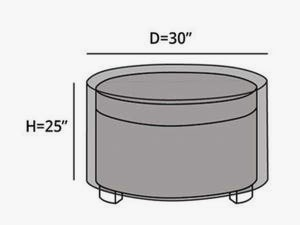 round-outdoor-ottoman-cover-line-drawing-c25