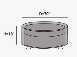 round-outdoor-ottoman-cover-line-drawing-c28