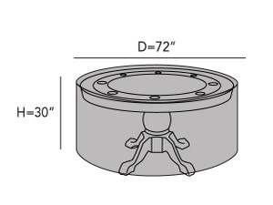 round-poker-table-cover-line-drawing-g25