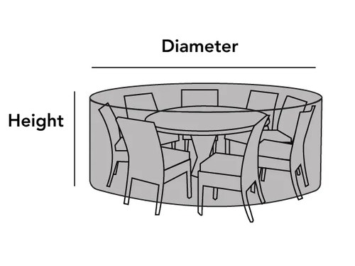 Outdoor Round Dining Table Chair Set Cover