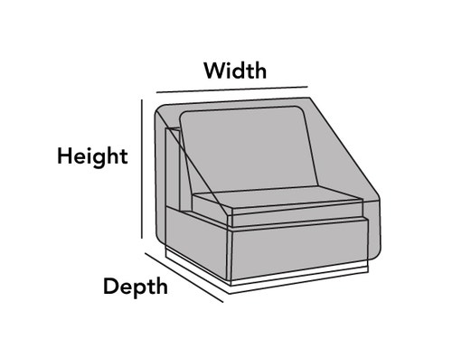 Outdoor Sectional Armless Chair Cover
